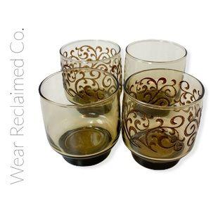 VINTAGE Libbey Mid-Century Modern Set of 4 Glasses